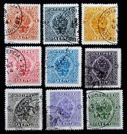 1914 Grèce - Epire 9 Valeurs Moschopolis . Oblitérés - North Epirus