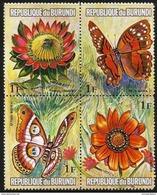 Burundi - 1973 Flowers & Butterflies 1f Block MNH **   Sc 435 - Burundi