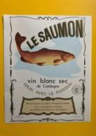 9749 - Le Saumon Vin Blanc Sec De Catalogne Espagne - Etiquettes