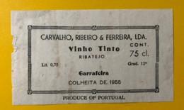 9753 - Vinho Tinto Ribatejo Garrafeira 1955 Portugal - Etiquettes