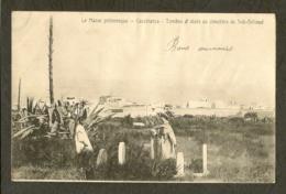 CP-MAROC - CASABLANCA - Tombes Et Aloès Au Cimetière De Sidi-Bélioud - Casablanca