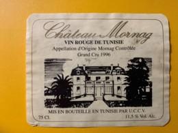 9757 - Château Mornag 1996 Tunisie - Etiquettes