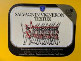 9759 - Fête Des Vignerons 1977 (en L'honneur De) Salvagnin Testuz Suisse - Etiquettes