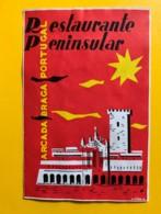 9763 - Restaurante Peninsular Arcada Braga Portugal - Etiquettes