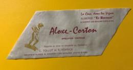 9764 -Aloxe Corton Auberge Le Bareuzai à Chorey-les-Beaune - Etiquettes