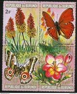 Burundi - 1973 Flowers & Butterflies 2f Block MNH **   Sc 436 - Burundi