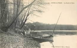 Lot 2 CPA 26 Drome Bourg De Péage Les Bords De L'Isère Barque Vieux Moulin Pêcheur - France