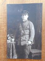 Oorlog : Oude Foto Aalmoezenier Gerard Hemeryck In Uniform -Hooglede - Historical Documents