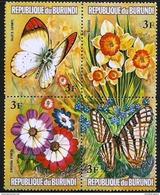 Burundi - 1973 Flowers & Butterflies 3f Block MNH **   Sc 437 - Burundi