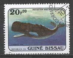 Guinea-Bissau 1984. Scott #600 (U) Whale, Physeter Macrocephalus, Baleine * - Guinée-Bissau