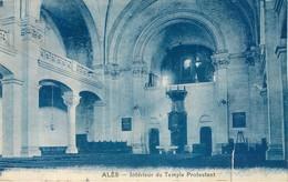 CPA 30 Gard Ales Alais Intérieur Temple Protestant - Alès