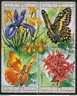 Burundi - 1973 Flowers & Butterflies 5f Block MNH **   Sc 438 - Burundi