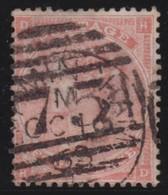 England  .     Yvert   .   25   Pl.  4     .   1862  .     O    .      Cancelled .   /    .   Gebruikt - Oblitérés