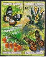 Burundi - 1973 Flowers & Butterflies 6f Block MNH **   Sc 439 - Burundi