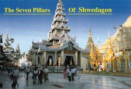 1 AK Myanmar * The Seven Pillars Of Shwedagon-Pagode In Yangon Früher Rangun - Ehemalige Hauptstadt Von Myanmar * - Myanmar (Burma)