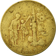 Monnaie, West African States, 10 Francs, 1987, Paris, TB, Aluminum-Bronze, KM:10 - Côte-d'Ivoire