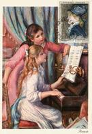 France. Jeunes Filles Au Piano.Margot - Auguste Renoir. Carte-Maximum - Impressionismo
