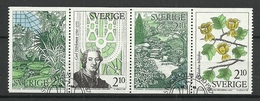 Sweden 1987 Botanic Gardens Strip Y.T. 1432/1435 (0) - Oblitérés