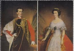 KAISER FRANZ JOSEF I. Und PRINZESSIN ELISABETH ALS BRAUTPAAR - Königshäuser