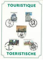 FDC Du 4-07-1992 TPour Le Tourisme: Bruxelles, Alden Biesen, Andenne, Ronse, Tournai COB N° 2428/2472 - FDC