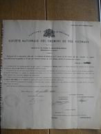 Action Souscrite En 1921 Par La Commune De WONCK Pour Le CHEMIN DE FER VICINAL DE GENCK-LIEGE-VOTTEM - Chemin De Fer & Tramway