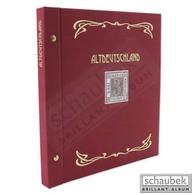 Schaubek Ds0021 Schraubbinder Leinen Schmal Rot, Reprint-Ausführung Altdeutschland - Groß, Grund Schwarz