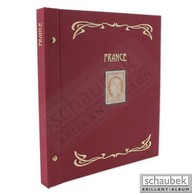 Schaubek Ds0024 Schraubbinder Leinen Schmal Rot, Reprint-Ausführung France - Groß, Grund Schwarz