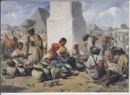 MARKT In SZOLNOK Von August Xaver Karl Ritter Von Pettenkofen  Gemälde Des 19. Jahrhunderts - Malerei & Gemälde