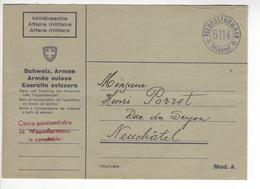 WAUWILERMOOS CAMP PENITENCIAIRE WW2 SUISSE INTERNES CAMP INTERNEMENT /FREE SHIP. R - Marcophilie