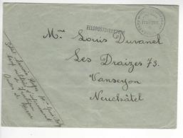 FRUTIGEN + FELDPOSTDIREKTION  WW2 SUISSE INTERNES CAMP INTERNEMENT /FREE SHIP. R - Marcophilie
