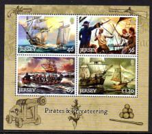 Jersey 1943/46 Et Feuillet, Pirates Et Corsaires , Voiliers , En Feuillet - Unclassified