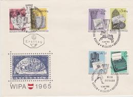 HISTORY OF WRITING HISTOIRE L'ÉCRITURE SCHREIBEN - AUSTRIA 1965 FDC MI 1184 - 1189 WIPA - Languages