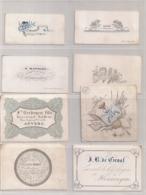 23 DIVERSE NAAMKAARTJES-23 CARTES DIVERS DE NOM - Cartes Porcelaine