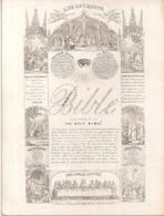 """THE BIBLE-LA BIBLE-DE BIJBEL """"LIFE OF CHRIST """" LITH.J.T.WOOD,LONDON-150/115MM - Cartes Porcelaine"""