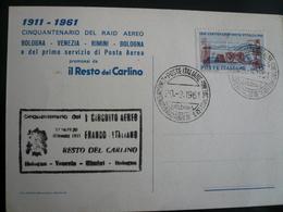 Cinquantenario Raid Aereo Bologna-Venezia-Rimini-Bologna 20.9.61-Il Resto Del Carlino - 6. 1946-.. Repubblica