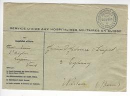 LEYSIN WW2 SUISSE INTERNES CAMP INTERNEMENT /FREE SHIP. R - Storia Postale