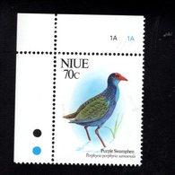705824204 NIUE  POSTFRIS MINT NEVER HINGED POSTFRISCH EINWANDFREI  SCOTT 606 BIRDS - Niue