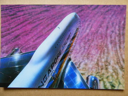 SINGAPORE AIRLINES B 747 AIRLINE ISSUE / CARTE COMPAGNIE - 1946-....: Modern Era