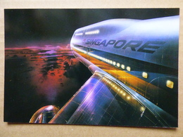 SINGAPORE AIRLINES B 747 AIRLINE ISSUE / CARTE COMPAGNIE - 1946-....: Ere Moderne