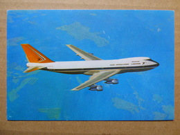 SOUTH AFRICAN AIRLINES B 747   AIRLINE ISSUE / CARTE COMPAGNIE - 1946-....: Ere Moderne