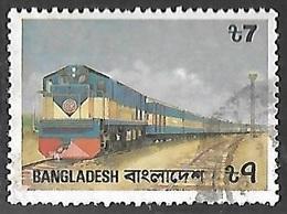 Bangladesh  1987  Sc#299  7t  Train Used   2016 Scott Value  $5 - Bangladesh