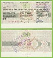 DDR Reisescheck 50 Mark Eingelöst In Der Karibik 1989    (19455 - 1949-1990: DDR