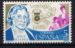 ESPAGNE - 2157** - SAINT JEAN BAPTISTE DE LA SALLE - 1931-Aujourd'hui: II. République - ....Juan Carlos I