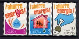 ESPAGNE - 2154/2156** - ECONOMIE D'ENERGIE - 1931-Aujourd'hui: II. République - ....Juan Carlos I