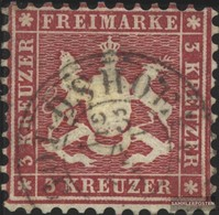 Württemberg 26a Splendor Fine Used / Cancelled 1863 Crest - Wurttemberg