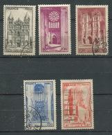 France 1944- N° 663 à 667 - Cathédrales - Oblitérés * - France