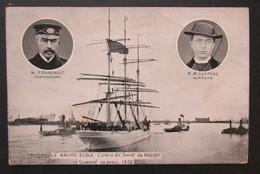 Cpa/pk Le Navire-école Comte De Smet De Naeyer Fourcault Zeilboot Zeilschip - Guerre