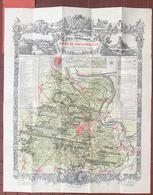 CARTE TOPOGRAPHIQUE DE LA FORET DE FONTAINEBLEAU PAR DENECOURT - Cartes Topographiques
