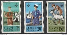 Cyprus - 1963 Scouting Anniversary Set Of 3 MNH **  Sc 224-6 - Cyprus (Republic)