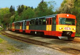 AK Eisenbahn Steiermark Graz-Köflacher Bahn GKB Bahnhof Laßnitzhöhe VT 70.12 1989 Railway Sonderzug Österreich - Eisenbahnen